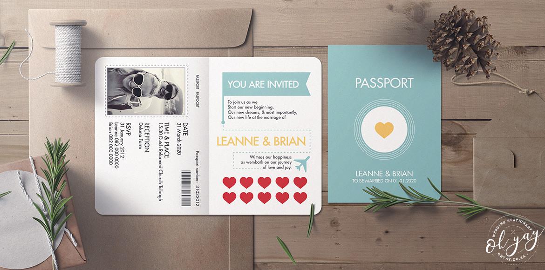 Modern passport invitation