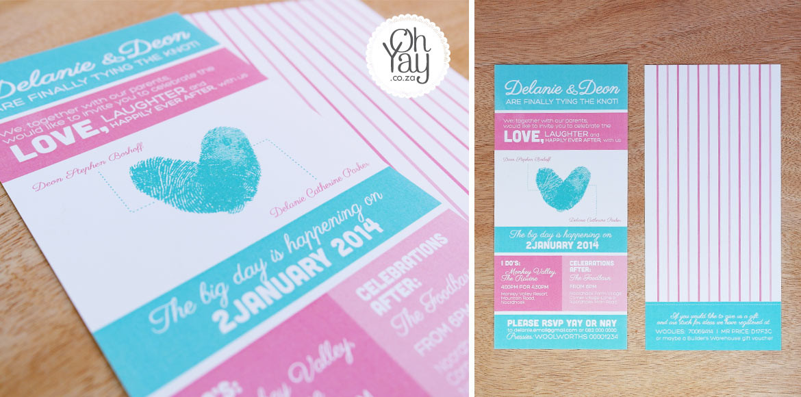 Fingerprint heart invitation