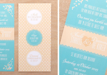 Flowers & polkadots invite