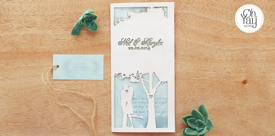 Lasercut Tree invitation
