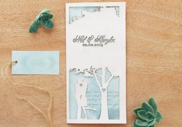 Lasercut Tree invitation
