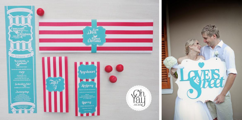 Love is Sweet wedding invitation & Stationery