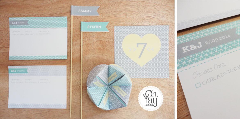 Pastel Pattern Stationery