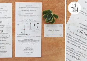 Romantic typography invite