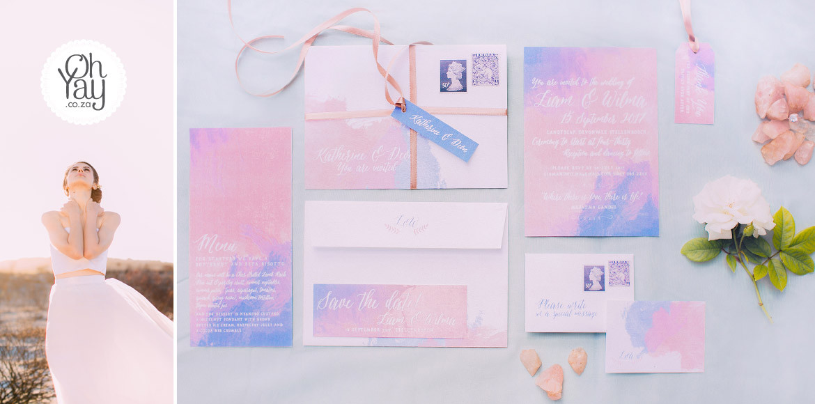 Rose Quartz & Serenity blue – Inspired by old letters