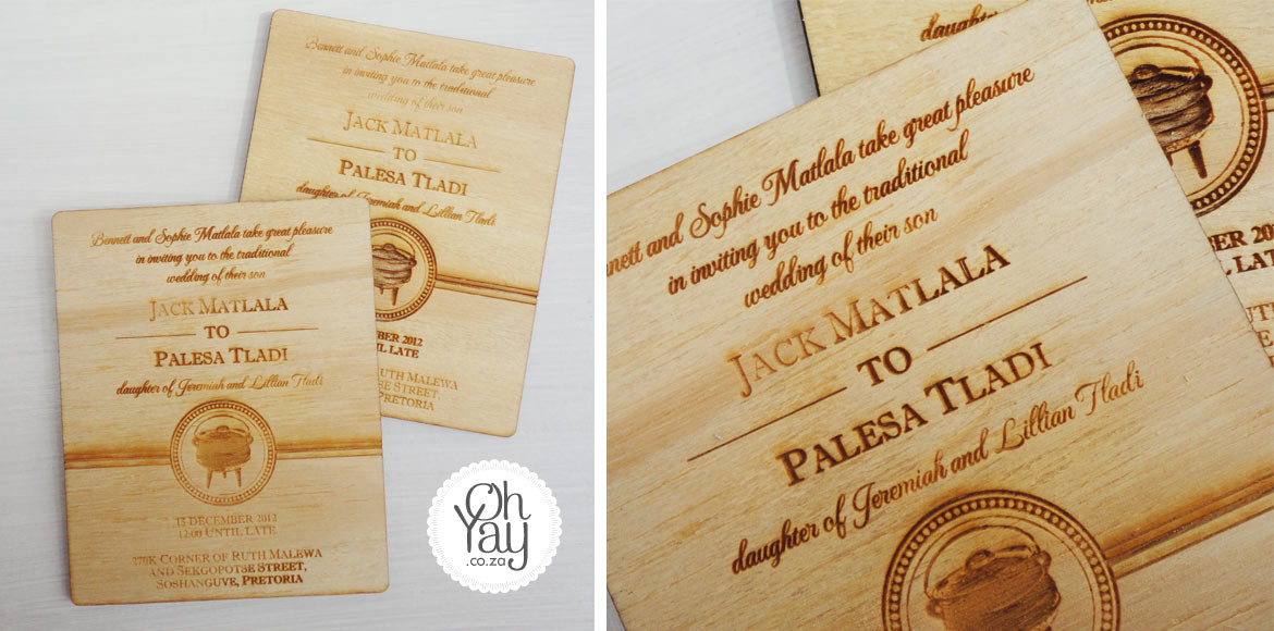 Traditional African Wooden Invite